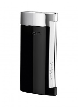 St Dupont Lighter Slim 7 Black Laquer