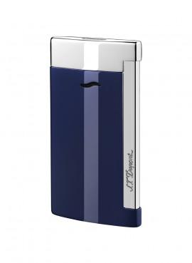 St Dupont Lighter Slim 7 Blue laquer