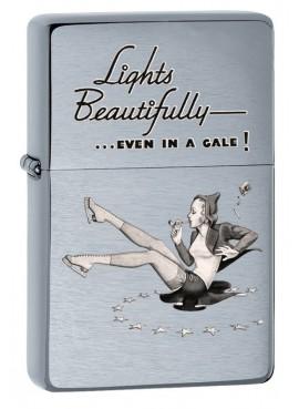 Lighter Zippo Vintage Girl